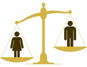 Illustration of gender gap in the U.S.
