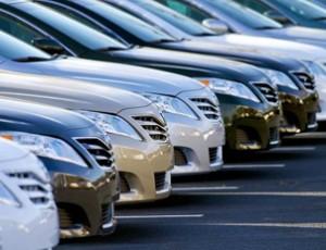 Row of automobiles