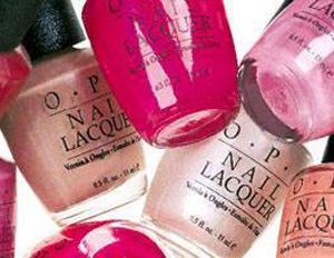 Montage of OPI nail polish colors