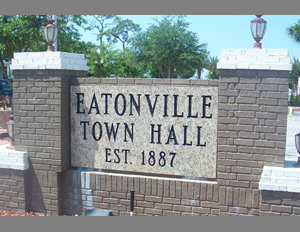 Eatonville, Florida, Town Hall sign