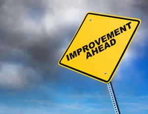 Improvement Ahead sign