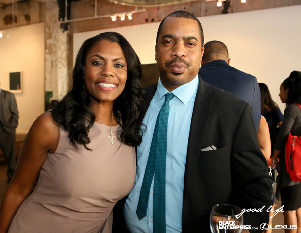 Omarosa and Black Enterprise's Jack Clark pause for a picture.