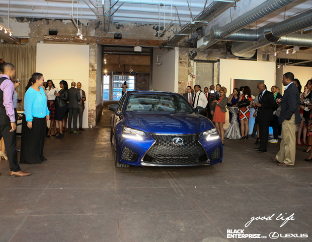 "Lexus rolls out their 2016 GS model for attendees at ""The Good Life"" event."