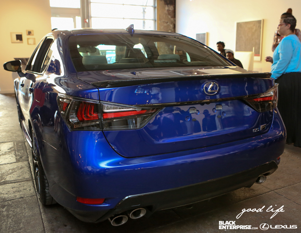 A rear view look at Lexus 2016 GS model.