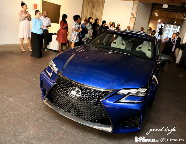Lexus displays their 2016 GS model to attendees.