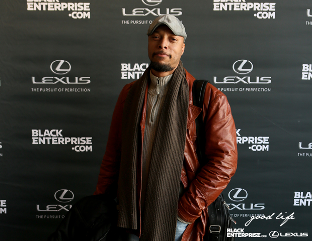 Taharka Ice Cream co-owner Darius Wilmore snaps a pic on the red carpet.