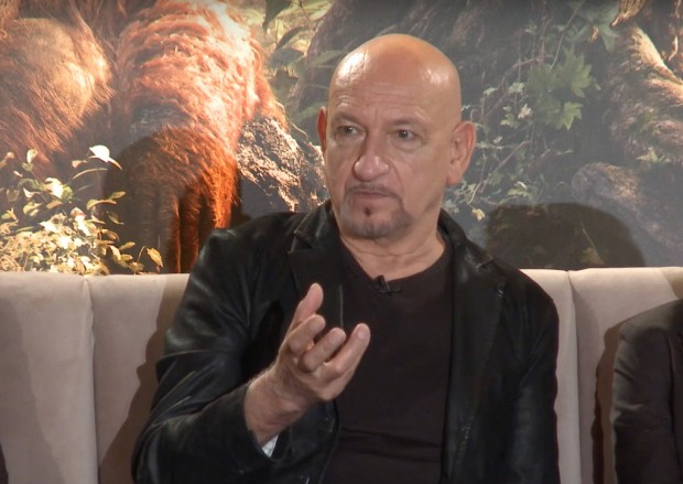 Ben Kingsley, the voice of Bagheera, the panther