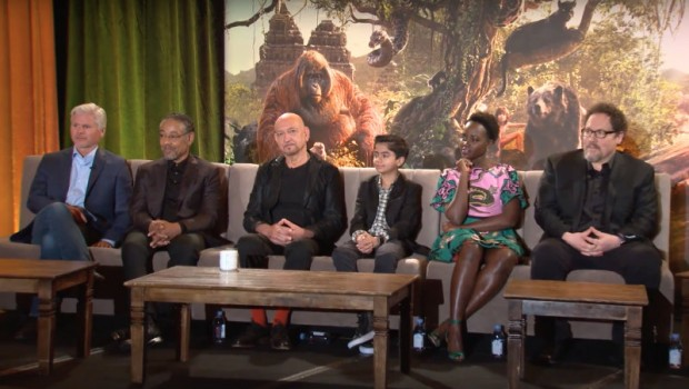 Some of the cast of Disney's The Jungle Book movie (2016)