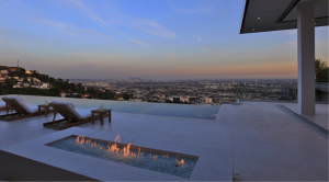 Los Angeles View from Hollywood Hills, Fire Pit_T.Bernie