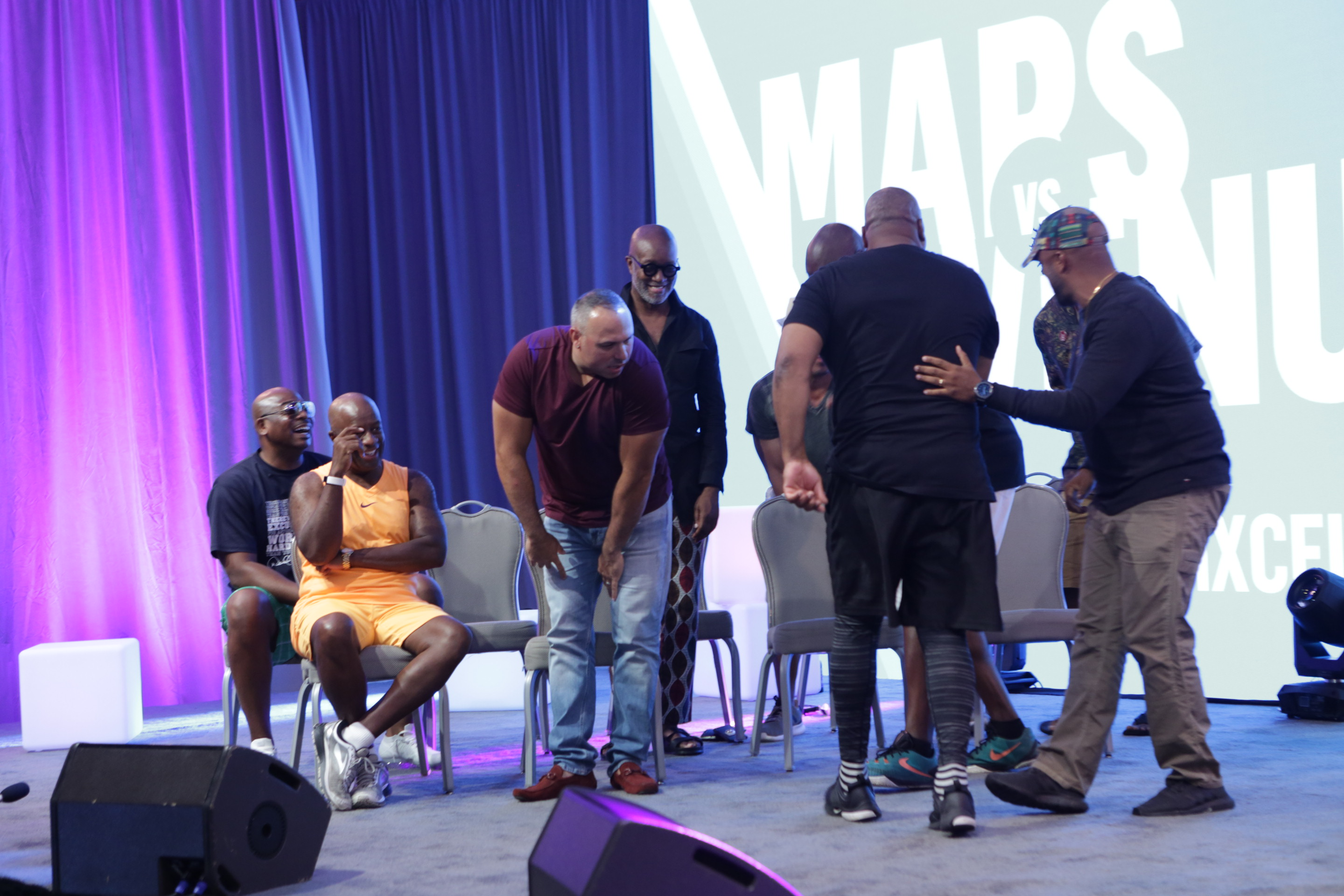Black Men XCEL Summit (Day 3): Mars v. Venus – Battle of the Sexes Trivia Challenge teams in action